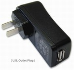 BT-359 110/220VAC US Wall Charger w/mini-USB port