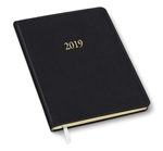 2019 Large Professional Weekly Planner Black Ostrich