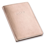 2019 / 2020 Gallery Leather Desk Agenda Monthly / Weekly Planner Organizer (Rose Gold)